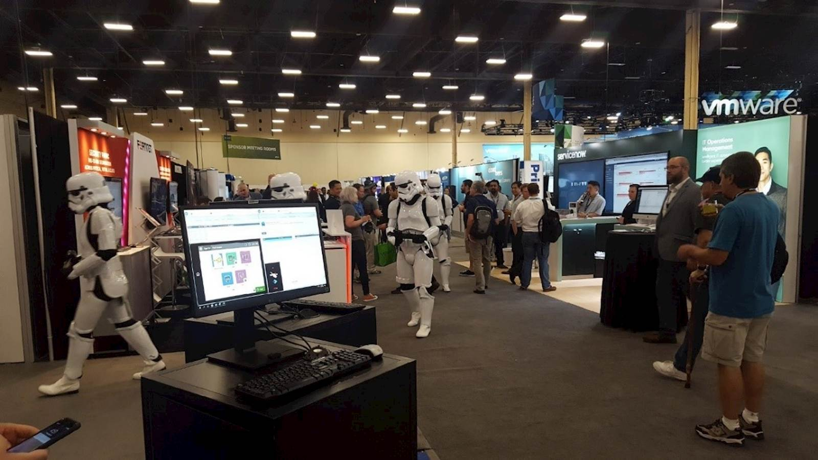 LRS VMworld event 2018 with stormtroopers
